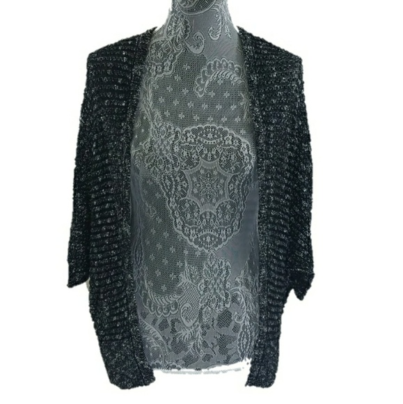 ba0e424fc219 Staring at Stars Sweaters   Speckled Batwing Linen Cardigan   Poshmark